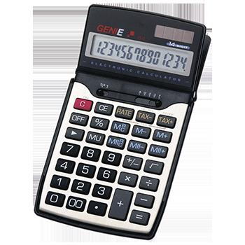12-stelliger Business-Taschenrechner mit Dual-Power (Solar und Batterie) und Schutzdeckel