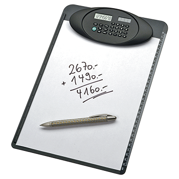 A4 Clipboard with 8-digit calculator