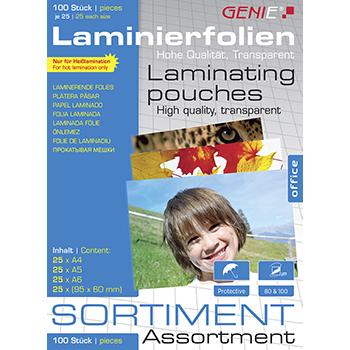 Laminierfolien-Sortimentspack (sortiert) 100 Stück