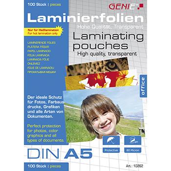 Laminierfolien (DIN A5 80 Mikron) 100er Pack