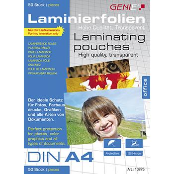 Laminierfolien (DIN A4, 125 Micron) 50er Pack