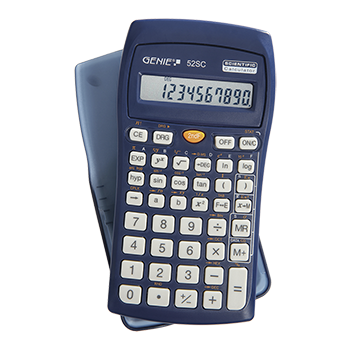 Technical-scientific calculator with 136 functions and 10 digit display