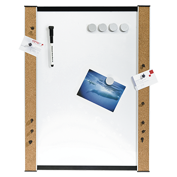 Whiteboard, incl. Pins, magnets, pinned pins, wall mounting, 45 cm x 60 cm