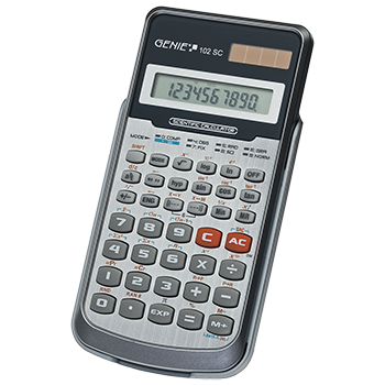 Technical-scientific calculator with 139 functions and 10 digit display