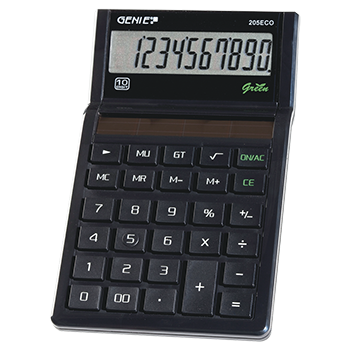 10-digit pocket calculator with solar power