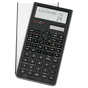 Technical-scientific calculator with 240 functions with 10 digits and 2 line display