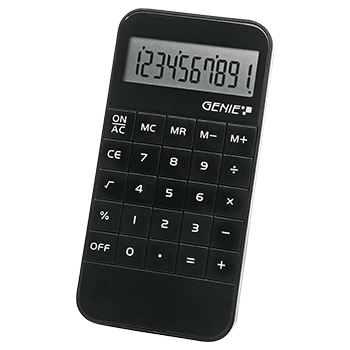 10-digit calculator, black