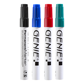 Permanent marker, sorted with wedge tip and metal shank, stroke width 1 - 5 mm