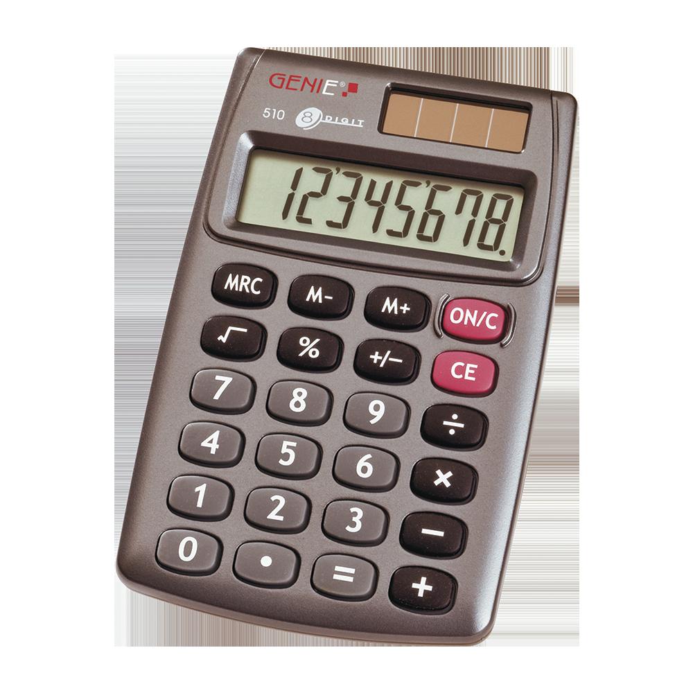 8-stelliger Taschenrechner mit Dual-Power (Solar und Batterie)