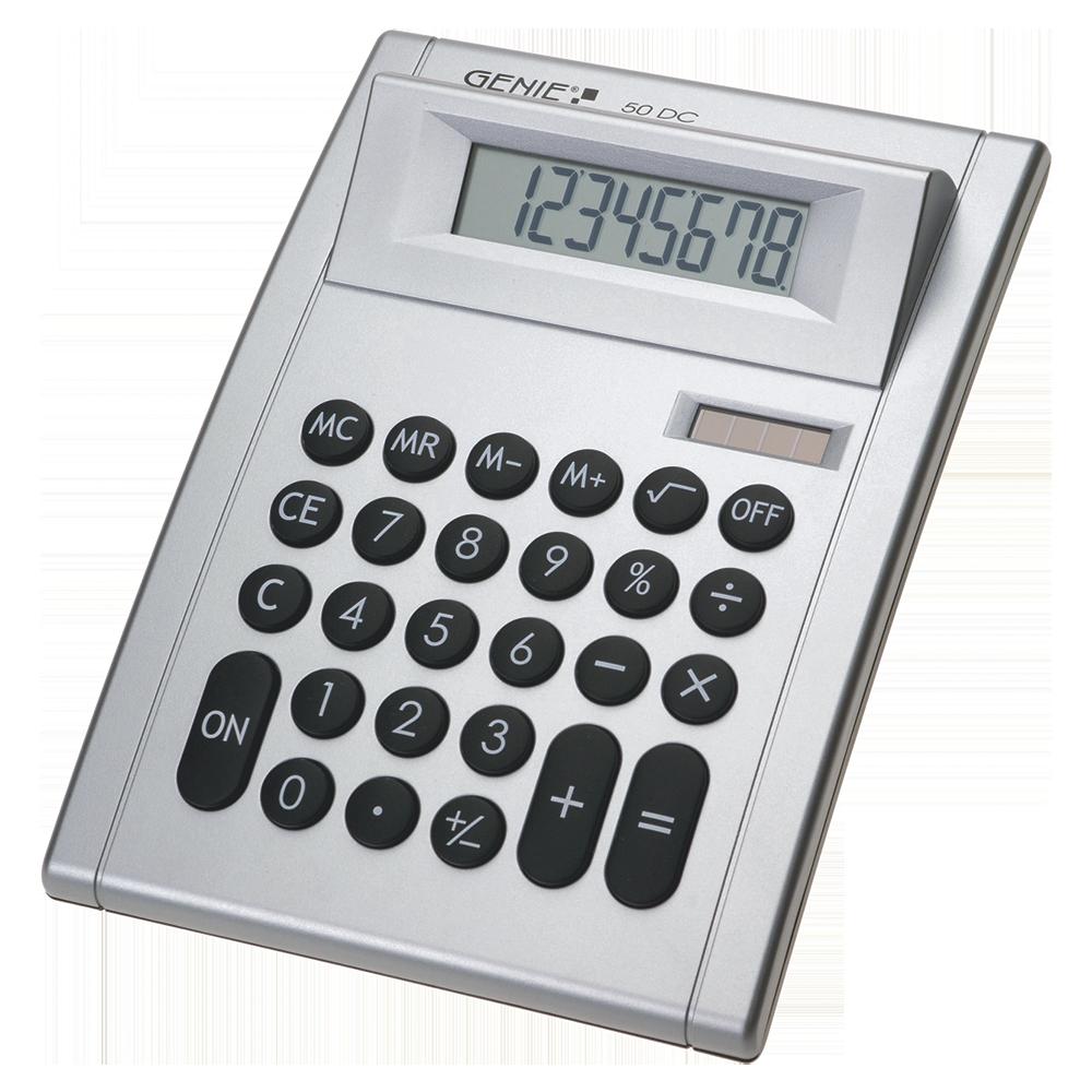 8-stelliger Tischrechner mit Dual-Power (Solar und Batterie)