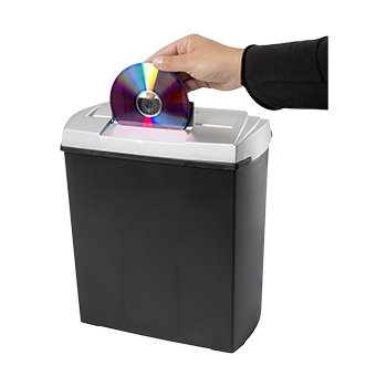Papershredder, 7 sheets strip cut and CD shredder