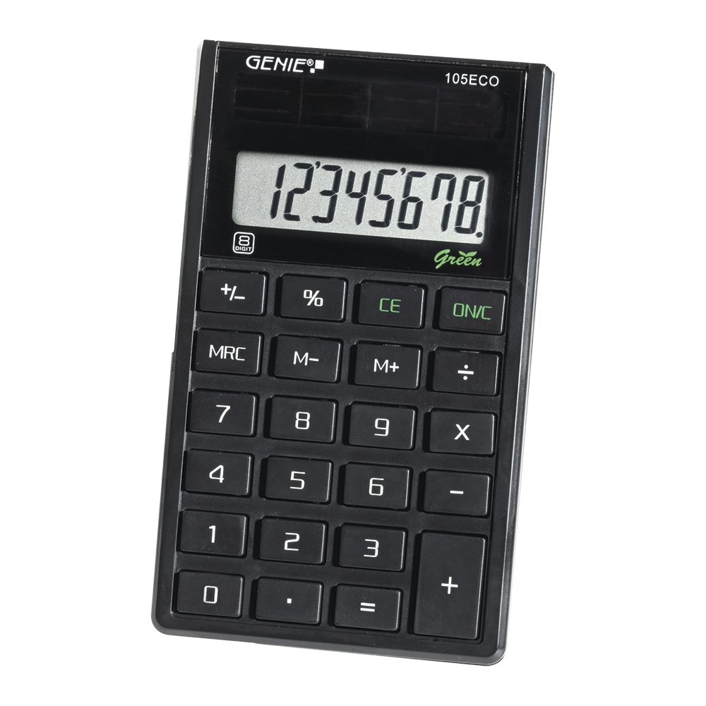 8-digit pocket calculator with solar power
