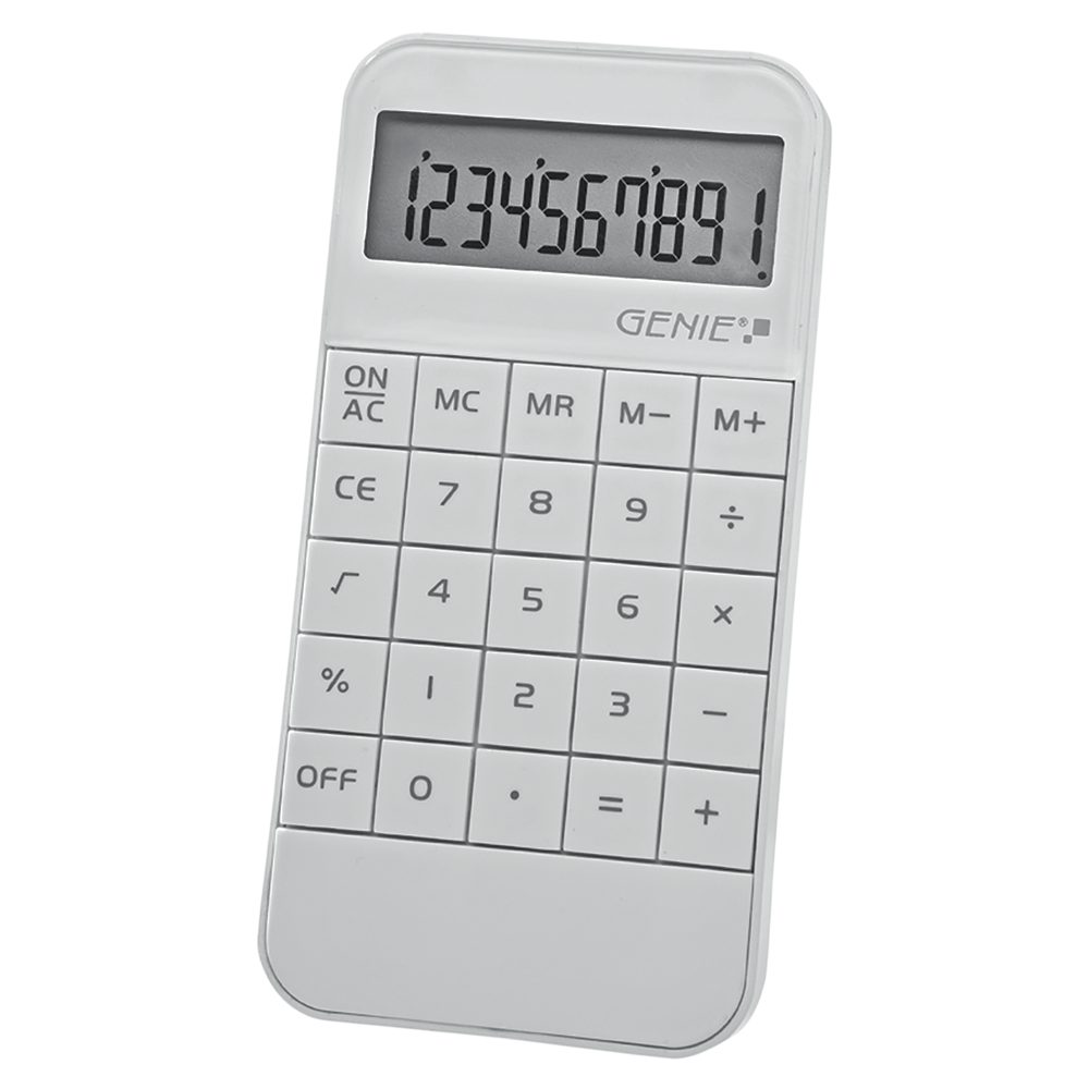 10-digit calculator, white