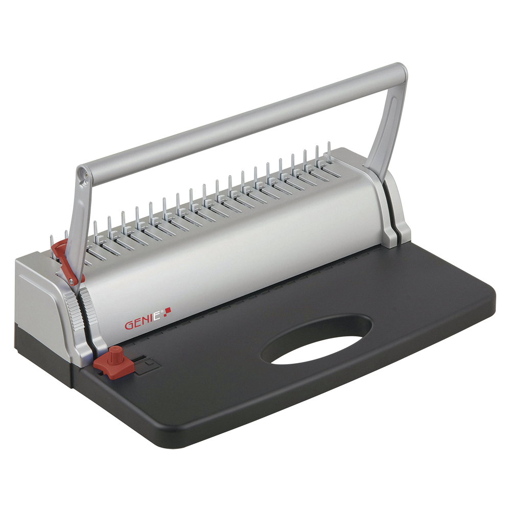 Spiral binding machine , including binding comb set