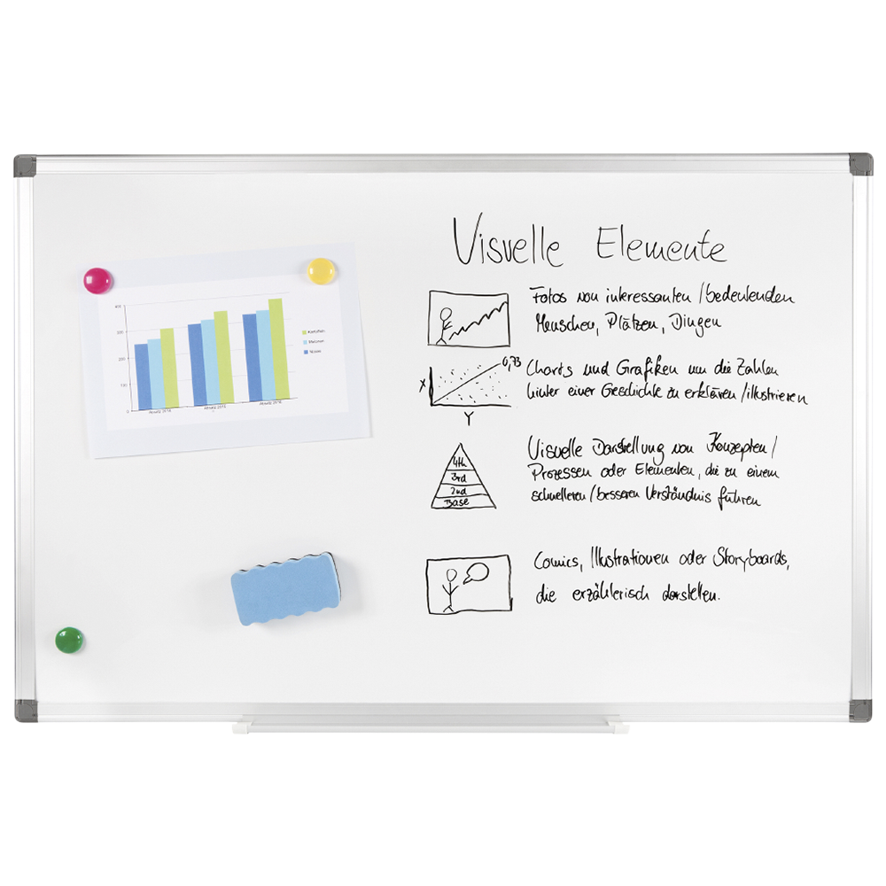 Whiteboard XXL PRO , incl. Accessories, 90 cm x 60 cm