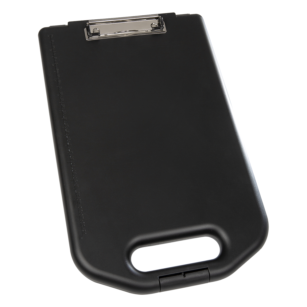 A4 clipboard with large storage compartment