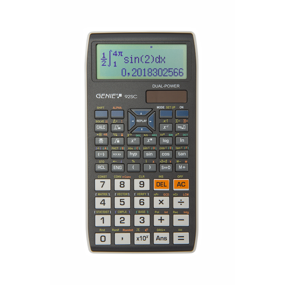 Technical-scientific calculator with 580 functions