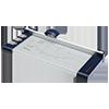 Papier-Rollenschneidegerät, DIN A4, 10 Blatt
