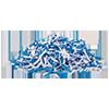 Papershredder, 15 sheets cross cut and CD shredder