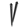 Plastic binding combs (DIN A4, 8 mm, 45 sheets) 25 pieces black