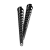 Plastic binding combs (DIN A4, 12 mm, 85 sheets) 25 pieces black
