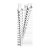 Plastikbinderücken (DIN A4, 8 mm, 45 Blatt) 25 Stück weiß