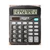 12-stelliger Tischrechner mit Dual-Power (Solar und Batterie)