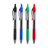 Gel Pen Colored Pack of 12, 4 x black, 4 x blue, 2 x red and 2 x green.