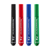 Permanent marker sorted, with 1-3 mm wedge tip,  Pack of 4. Packing: 1 x black, blue, red and green
