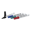 Permanent marker, sorted with wedge tip and metal shank, stroke width 1 - 5 mm Pack of 4: 1 x black, blue, red and green