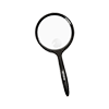 Reading magnifier with round plastic lens and a diameter of 75mm