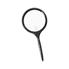 Reading magnifier with round plastic lens and a diameter of 100mm